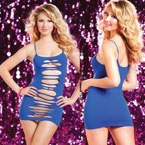 Платье Seamless Slash Dress двустороннее, цвет синий, размер S-L - Seven`til Midnight