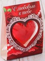 """Свеча-сердце """"С любовью к тебе"""", цвет красный - Сима-Ленд"""