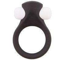 Чёрное эрекционное виброкольцо LIT-UP SILICONE STIMU RING 2 BLACK, цвет черный - Dream toys