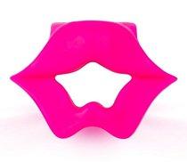 Розовое эрекционное виброкольцо в форме губ, цвет розовый - Brazzers