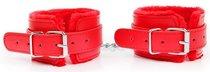 Красные мягкие оковы на регулируемых ремешках, цвет красный - Bioritm