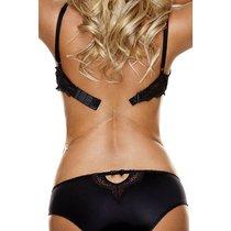 Бретели-удлинители The Down Low Bra Strap Converter для создания лифа с низкой спиной, цвет черный/прозрачный - Hollywood Curves
