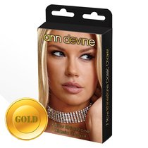 Ошейник из кристаллов 7 Row Rhinestone Classic Choker, цвет золотой - Ann Devine