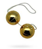 Вагинальные шарики Erotion со смещённым центром тяжести, цвет золотой - Eroticon