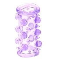 Фиолетовая насадка с шариками и шипами LUST CLUSTER, цвет фиолетовый - Dream toys