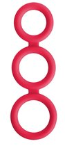 Красное тройное эрекционное кольцо Triad Cock Ring, цвет красный - NS Novelties