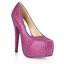 Туфли Sexy Pink, в кристаллах на шпильке, цвет розовый - Hustler Shoes