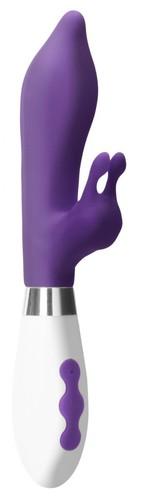 Фиолетовый вибратор-кролик Adonis - 22 см., цвет фиолетовый - Shots Media