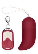 Красное виброяйцо Medium Wireless Vibrating G-Spot Egg с пультом - 7,5 см., цвет красный - Shots Media