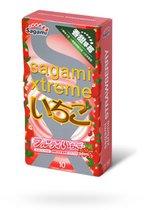 Презервативы Sagami Xtreme Strawberry со вкусом клубники, 10 шт. - Sagami