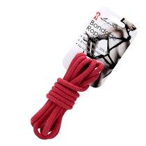 Хлопковая веревка Bondage Rope 3M для связывания, цвет красный - Lux Fetish