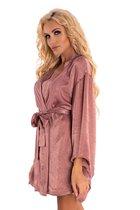 Роскошный пеньюар-кимоно FaomiI с поясочком, цвет розовый, S-M - Livia Corsetti