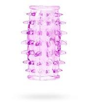 Насадка на фаллос с шипами по всей длине, цвет фиолетовый - SEXTOY