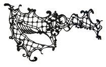 Оригинальная асимметричная маска из нитей, цвет черный - Toyfa