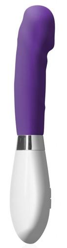 Фиолетовый вибратор Asopus - 21 см., цвет фиолетовый - Shots Media