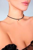 Чокер на шею с подвеской-треугольником, цвет черный, размер OS - Livia Corsetti