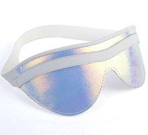 Белая маска на глаза с перламутровым блеском, цвет белый - Sitabella