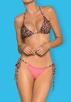 Раздельный женский купальник-перевёртыш California, цвет леопард, L - Obsessive