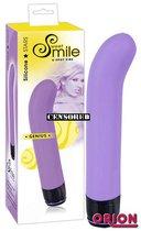 Фиолетовый вибратор G-точки Smile Genius - 20 см. - ORION