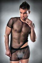 Комплект полупрозрачный, цвет черный, размер L-XL - Passion
