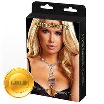Галстук из золотистых кристаллов EXECUTIVE Rhinestone Tie, цвет золотой - Ann Devine