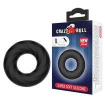 Чёрное эластичное эрекционное кольцо Super Soft, цвет черный - Baile