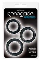 Набор эрекционных колец Renegade - Diversity Rings - Black - NS Novelties