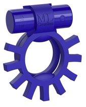 Синее перезаряжаемое эрекционное виброкольцо Super Ring, цвет синий - ML Creation
