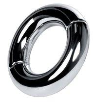 Серебристый утяжелитель на мошонку на магнитах, цвет серебряный - Toyfa