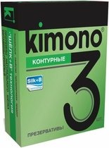 Контурные презервативы KIMONO - 3 шт. - Kimono