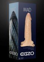 Поясной фаллоимитатор с эластичными ремешками MAD - 18 см., цвет телесный - Egzo