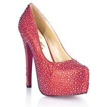 Туфли Provacative, в кристаллах, цвет красный - Hustler Shoes
