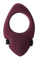 Бордовое эрекционное виброкольцо Pure Passion Sunset, цвет бордовый - Lola Toys