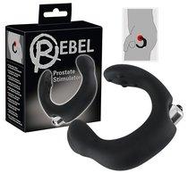 С-образный стимулятор простаты Rebel с виброэлементом, цвет черный - ORION