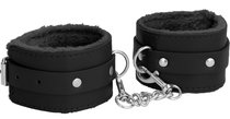 Черные поножи Plush Leather Ankle Cuffs, цвет черный - Shots Media