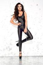 Облегающий комбинезон со шнуровкой на спинке Doris, цвет черный, размер 2XL-3XL - Me Seduce