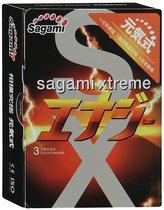 Презервативы Sagami Xtreme ENERGY с ароматом энергетика - 3 шт. - Sagami