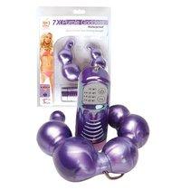 Двусторонний фиолетовый вибромассажёр Purple Goddess, цвет фиолетовый - Topco Sales