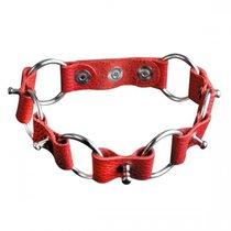 Ошейник №12 СК-Визит с кольцами, цвет красный - Sitabella (СК-Визит)