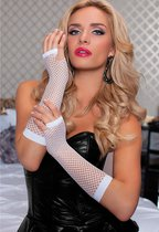 Перчатки Elbow Fishnet Gloves - White, цвет белый, OS - Seven`til Midnight