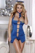 Костюм очаровательной бортпроводницы, цвет синий, S-L - Candy girl
