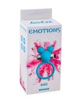 Голубое эрекционное виброколечко Emotions Minnie Breeze, цвет синий - Lola Toys