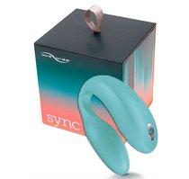Электровибромассажер We-Vibe Sync Aqua на радиоуправлении, цвет голубой - We-Vibe
