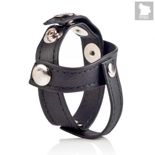 Утяжка Colt - Leather C/B Strap H-Piece Divider, цвет черный - California Exotic Novelties