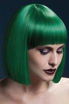 Зеленый парик со стрижкой прямой боб, цвет зеленый - Fever