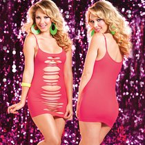 Платье Seamless Slash Dress двустороннее, цвет розовый, размер S-M - Seven`til Midnight
