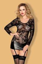 Коротенькое платье с пажами Livia, цвет черный, XL - Candy girl
