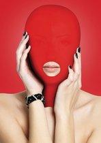 Красная маска на голову с прорезью для рта Submission Mask, цвет красный - Shots Media