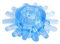 Голубая гелевая насадка с шипиками, цвет голубой - Toyfa