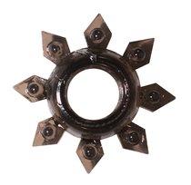 Чёрное эрекционное кольцо Rings Gear, цвет черный - Lola Toys